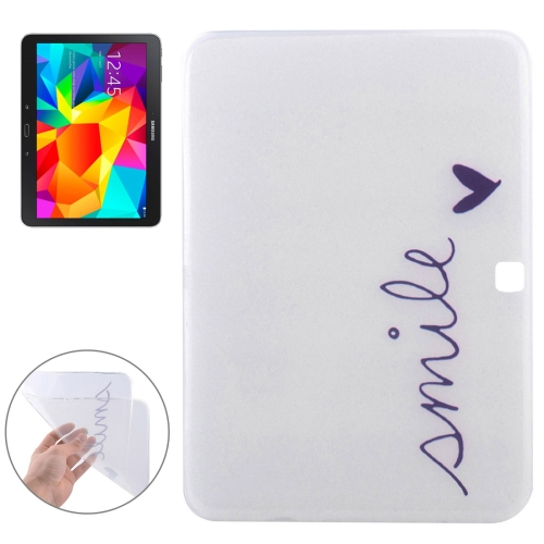 Buy Smile Letter Soft TPU Protective Case for Samsung Galaxy Tab 4 10.1 / T530 for $2.55 in SUNSKY store