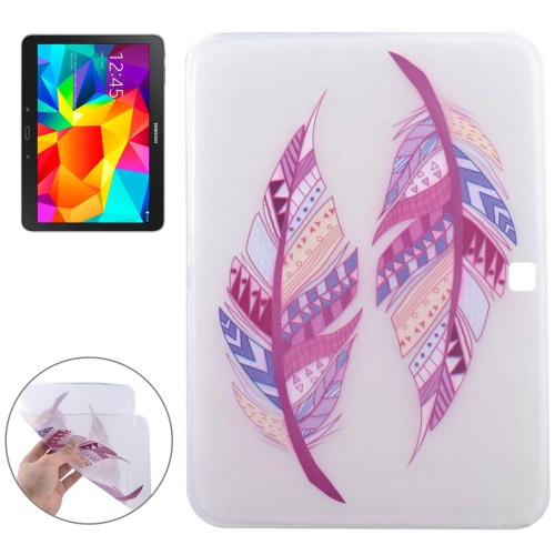 Buy Colorful Feathers Pattern Soft TPU Protective Case for Samsung Galaxy Tab 4 10.1 / T530 for $2.55 in SUNSKY store