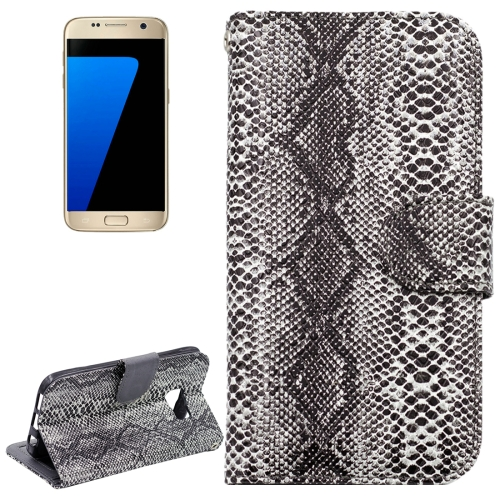 Buy For Samsung Galaxy S7 / G930 Snakeskin Texture Horizontal Flip Leather Case with Wallet & Holder & Card Slots, Grey for $2.59 in SUNSKY store