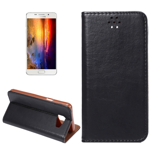 Buy For Samsung Galaxy A5, 2016 / A510 Magnetic Crazy Horse Texture Horizontal Flip Leather Case with Holder & Card Slots, Black for $2.64 in SUNSKY store