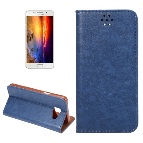 Buy For Samsung Galaxy A5, 2016 / A510 Magnetic Crazy Horse Texture Horizontal Flip Leather Case with Holder & Card Slots (Dark Blue) for $2.64 in SUNSKY store