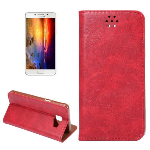 Buy For Samsung Galaxy A5, 2016 / A510 Magnetic Crazy Horse Texture Horizontal Flip Leather Case with Holder & Card Slots, Red for $2.64 in SUNSKY store