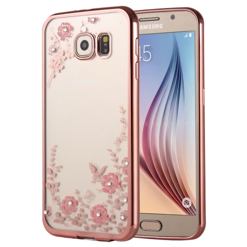 Buy For Samsung Galaxy A9, 2016 / A900 Flowers Patterns Electroplating Soft TPU Protective Cover Case (Rose Gold) for $1.46 in SUNSKY store