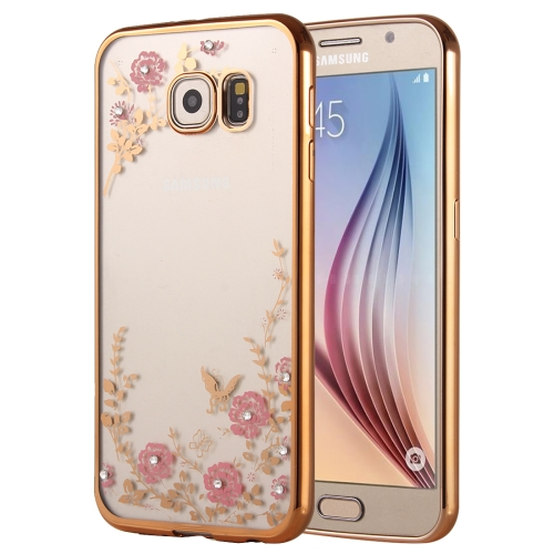 Buy For Samsung Galaxy A9, 2016 / A900 Flowers Patterns Electroplating Soft TPU Protective Cover Case for $1.46 in SUNSKY store