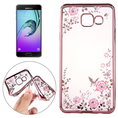 Buy For Samsung Galaxy A5, 2016 / A510 Flowers Patterns Electroplating Soft TPU Protective Cover Case (Rose Gold) for $1.46 in SUNSKY store
