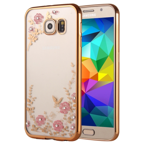 Buy For Samsung Galaxy A7, 2016 / A710 Flowers Patterns Electroplating Soft TPU Protective Cover Case, Gold for $1.46 in SUNSKY store