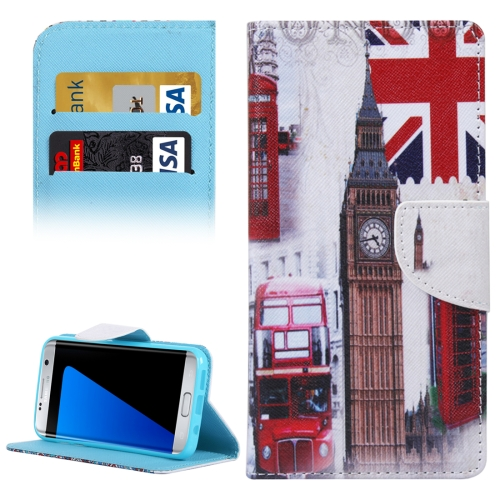 Buy For Samsung Galaxy S7 Edge / G935 Symbols of Britain Pattern Horizontal Flip Leather Case with Holder & Card Slots & Wallet for $2.30 in SUNSKY store