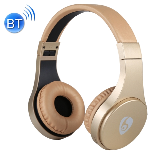 OVLENG S55 Bluetooth Wireless Stereo Music Headset with Mic, For iPhone, Samsung, Huawei, Xiaomi, HTC and Other Smartphones, All Audio Devices (Gold) letike bluetooth headphones wireless sports earphones sweatproof headset magnetic aptx hifi 3d stereo with mic for iphone xiaomi