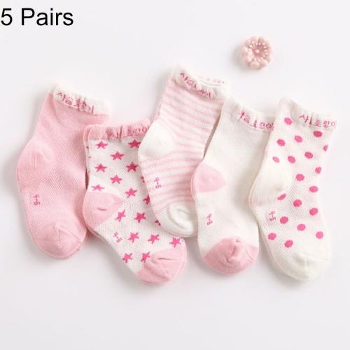 Buy 5 Pairs Summer Thin Children Cotton Socks Mesh Baby Socks, For Foot Length: 11 ~ 13cm (Light Pink) for $1.47 in SUNSKY store