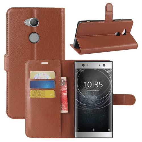 Buy For Sony Xperia XA2 Ultra Litchi Texture Horizontal Flip Leather Case with Wallet & Holder & Card Slots, Brown for $2.43 in SUNSKY store