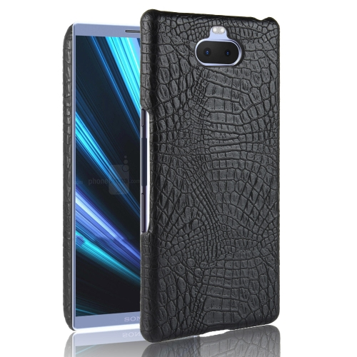 Shockproof Crocodile Texture PC + PU Case for Sony Xperia 10 Plus (Black)