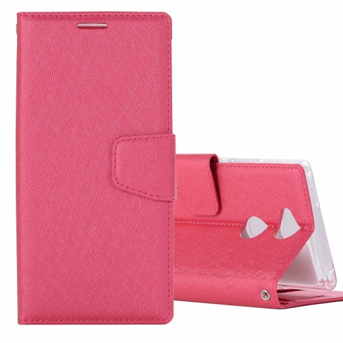 Buy For Sony Xperia XA2 Ultra Silk Texture Horizontal Flip Leather Case with Holder & Card slots & Wallet & Photo Frame, Magenta for $3.18 in SUNSKY store