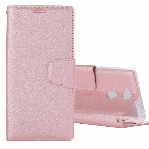 Buy For Sony Xperia XA2 Ultra Silk Texture Horizontal Flip Leather Case with Holder & Card slots & Wallet & Photo Frame (Rose Gold) for $3.18 in SUNSKY store