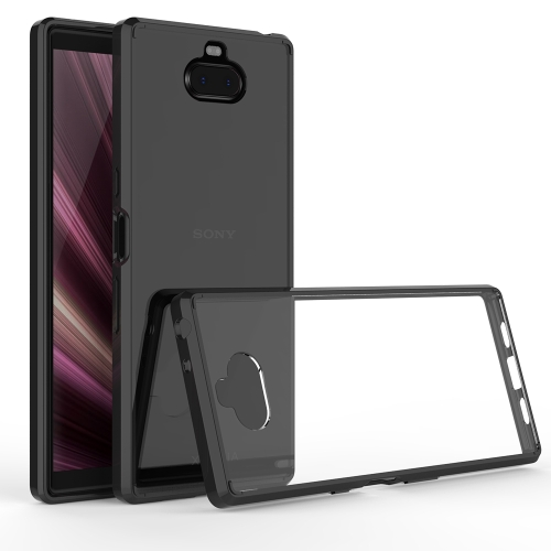Scratchproof TPU + Acrylic Protective Case for Sony Xperia 10 Plus(Black)
