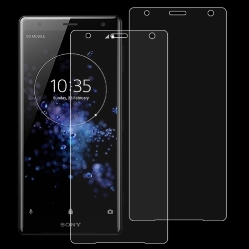 Screen Protector Film 100 PCS 0.26mm 9H 2.5D Tempered Glass Film for Sony Xperia XZ2 Premium Tempered Glass Film