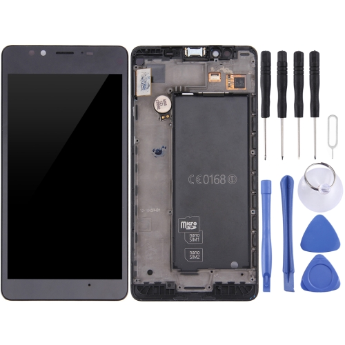 LCD Screen and Digitizer Full Assembly with Frame For Microsoft Lumia 950 (Black)