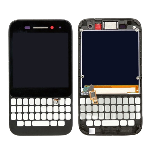 LCD Screen and Digitizer Full Assembly with Frame for BlackBerry Q5(Black)