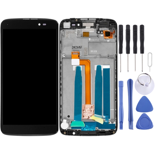 LCD Screen and Digitizer Full Assembly with Frame for Alcatel One Touch Idol 3 5.5 LTE / 6045 (Black)