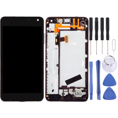 Buy iPartsBuy for Microsoft Lumia 650 LCD Screen + Touch Screen Digitizer Assembly with Frame, Black for $55.30 in SUNSKY store