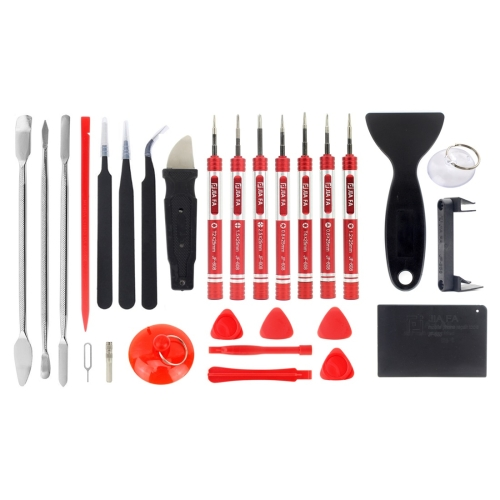 JIAFA JF-8175 28 in 1 Electronics Repair Tool Kit with Portable Bag for Repair Cell Phone, iPhone, MacBook and More