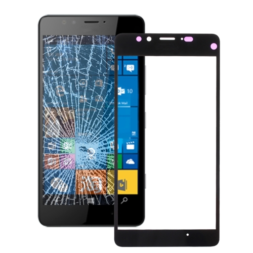 Front Screen Outer Glass Lens for Microsoft Lumia 950(Black)
