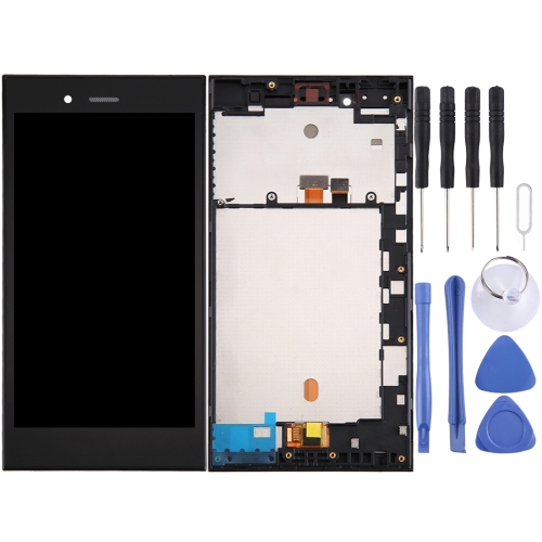 LCD Screen and Digitizer Full Assembly with Frame for BlackBerry Z3 (Black)