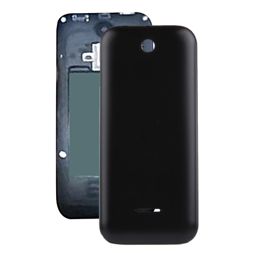 Solid Color Plastic Battery Back Cover for Nokia 225 (Black)
