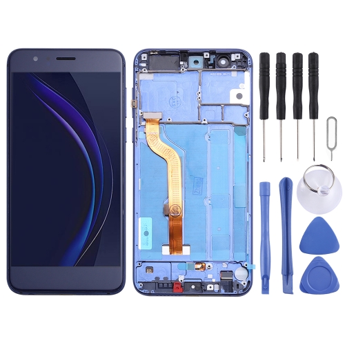 LCD Screen and Digitizer Full Assembly with Frame for Huawei Honor 8 FRD-L19 FRD-L09(Blue)