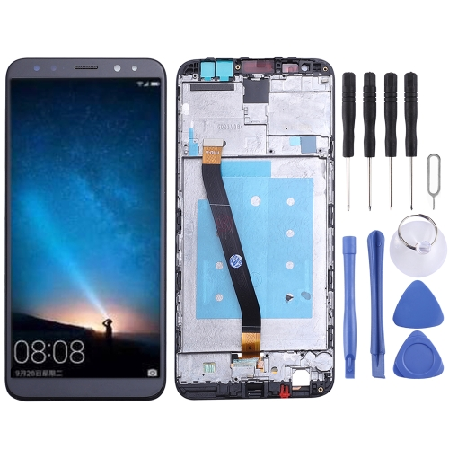 LCD Screen and Digitizer Full Assembly with Frame for Huawei Mate 10 Lite(Black)