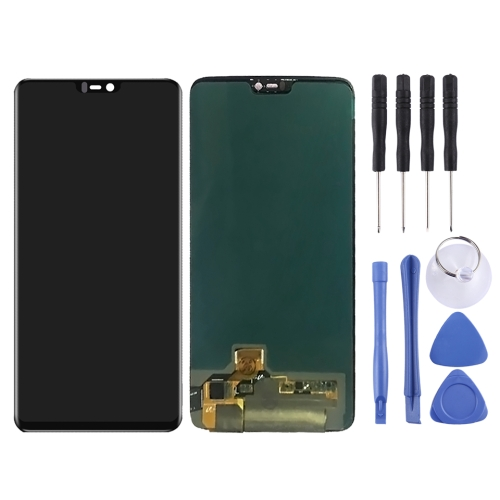 LCD Screen and Digitizer Full Assembly for OnePlus 6(Black)