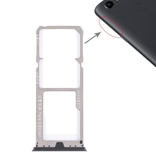 SUNSKY - 2 x SIM Card Tray + Micro SD Card Tray for OPPO A73(Black)