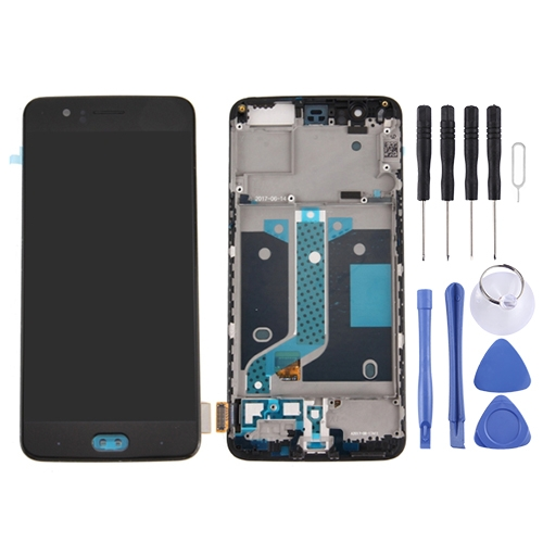 OnePlus 5 LCD Screen and Digitizer Full Assembly with Frame(Black)