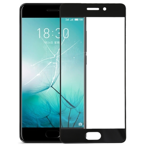 Front Screen Outer Glass Lens for Meizu PRO 7(Black)