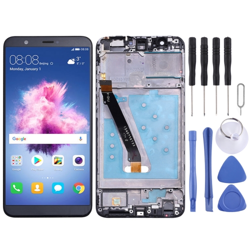 LCD Screen and Digitizer Full Assembly with Frame for Huawei P smart (Enjoy 7S), FIG-LX1, FIG-LA1, FIG-LX2, FIG-LX3(Black)