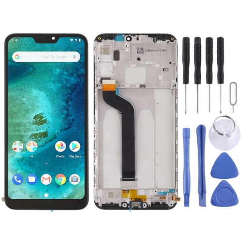 LCD Screen and Digitizer Full Assembly with Frame for Xiaomi Redmi 6 Pro / A2 Lite(Black)