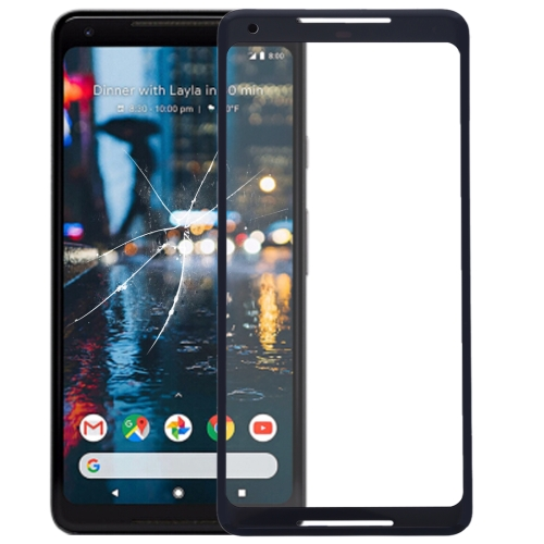 Front Screen Outer Glass Lens for Google Pixel 2 XL(Black)