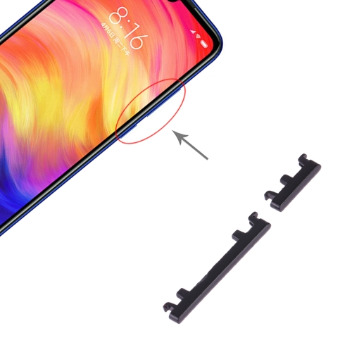 Power Button and Volume Control Button for Xiaomi Redmi Note 7 Pro / Redmi Note 7 (Black)