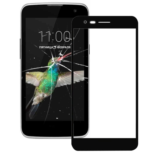 Front Screen Outer Glass Lens for LG K4 2017 / M160 (Black)