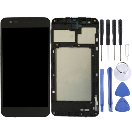 LCD Screen and Digitizer Full Assembly with Frame for LG K4 2017 / M160 (Black)