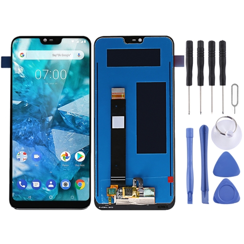 LCD Screen and Digitizer Full Assembly for Nokia 7.1 TA-1085 TA-1095 TA-1096 (Black) фото