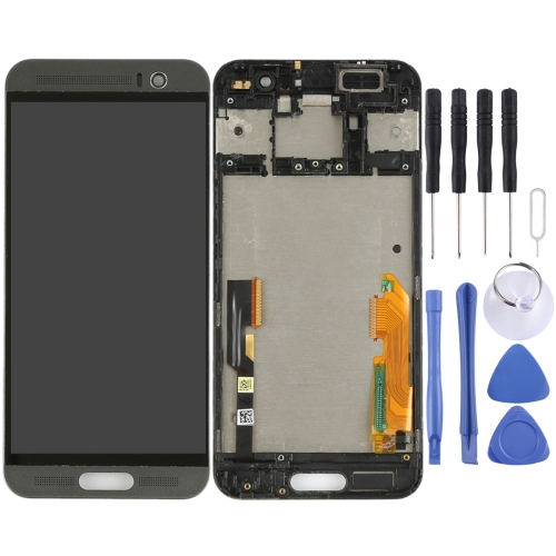 LCD Screen and Digitizer Full Assembly with Frame for HTC One M9+ / M9 Plus(Black)