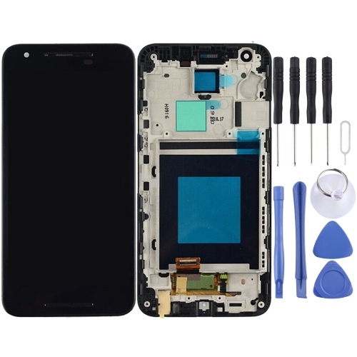 LCD Screen and Digitizer Full Assembly with Frame for LG Nexus 5X H791 H790 (Black)