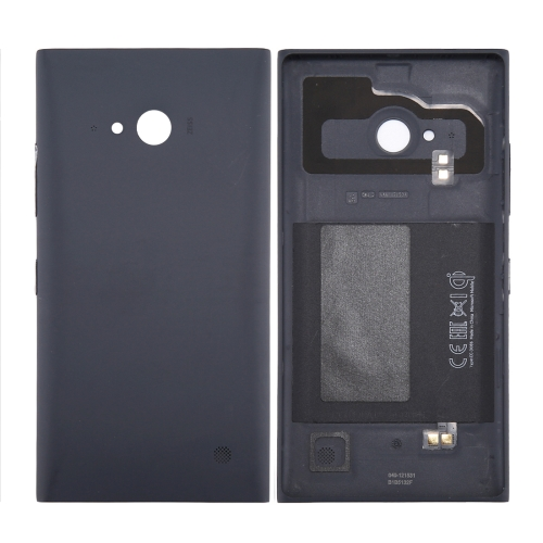Solid Color NFC Battery Back Cover for Nokia Lumia 735 (Black)
