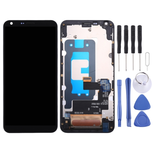 LCD Screen and Digitizer Full Assembly with Frame for LG Q6 Q6+ LG-M700 M700 M700A US700 M700H M703 M700Y(Black)