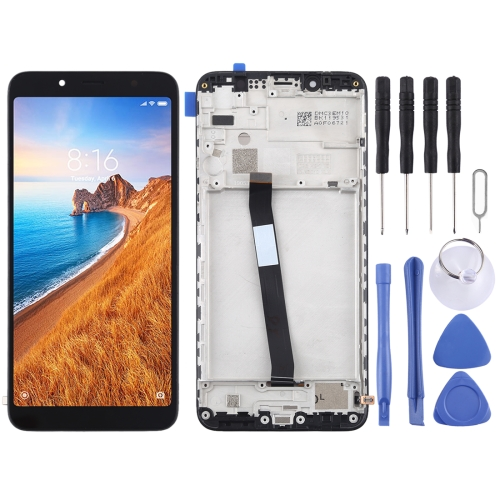 LCD Screen and Digitizer Full Assembly with Frame for Xiaomi Redmi 7A(Black) фото