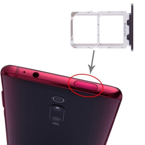 SIM Card Tray + SIM Card Tray for Xiaomi Redmi K20 / K20 Pro / 9T / 9T Pro(Black)
