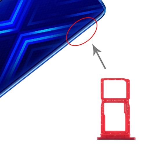 SIM Card Tray + SIM Card Tray / Micro SD Card Tray for Huawei Honor 9X(Red)