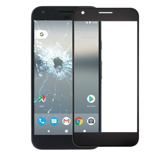 Front Screen Outer Glass Lens for Google Pixel (Black)