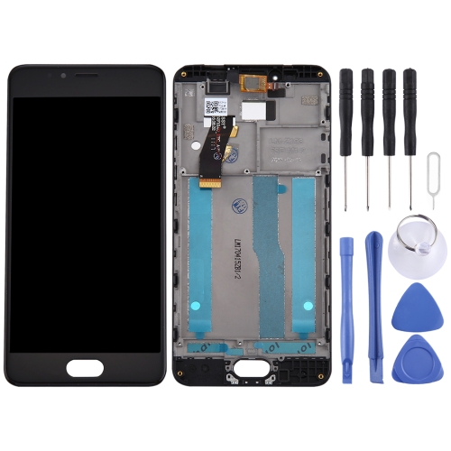 Meizu M5s / Meilan 5s LCD Screen and Digitizer Full Assembly with Frame(Black)