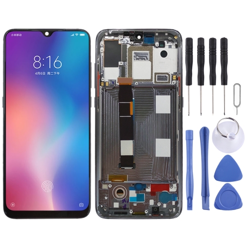 OLED Material LCD Screen and Digitizer Full Assembly with Frame for Xiaomi Mi 9(Black)